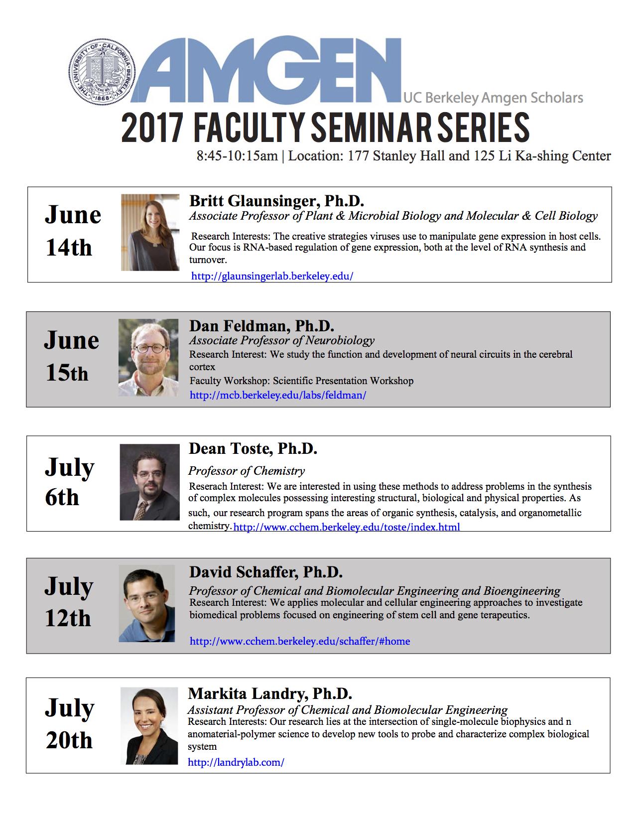 UC Berkeley Amgen Scholars Program | Home